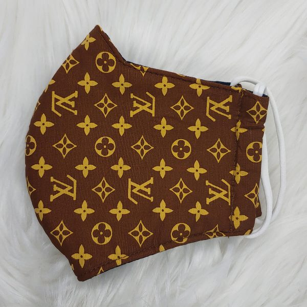 Brown and gold Louis Vuitton inspired