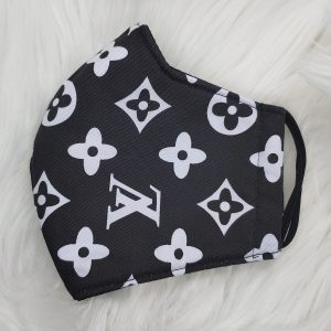 Black and white large LV logo Louis Vuitton inspired