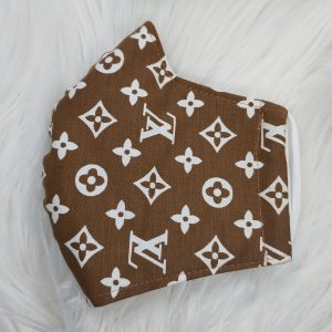 Brown with white LV Louis Vuitton inspired