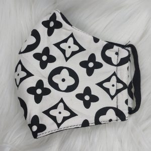 White and black large LV Louis Vuitton inspired