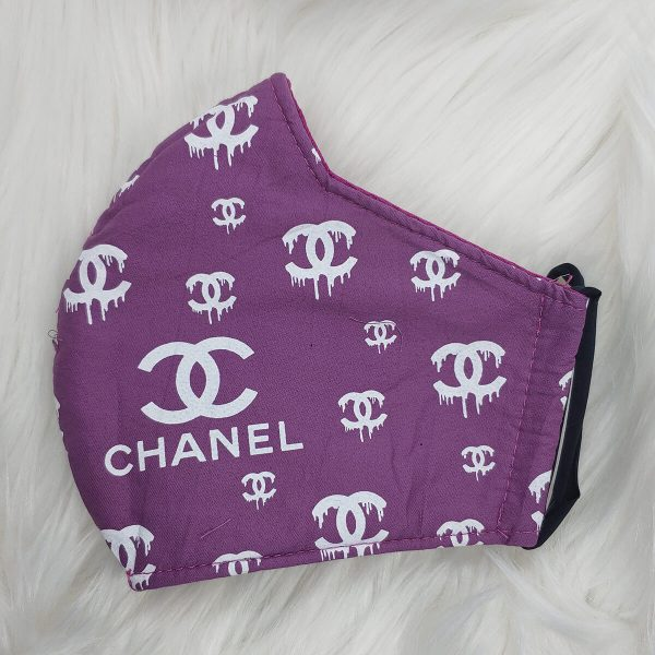Purple and white paint drip chanel-inspired