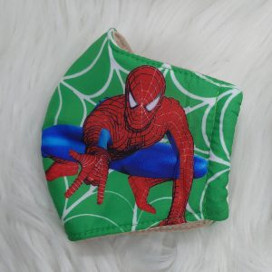 Green squatting Spider-Man