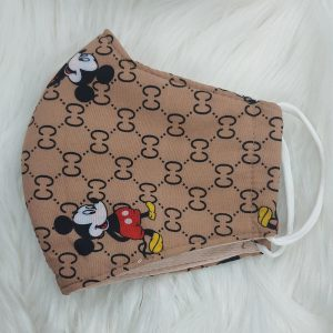 Tan Gucci inspired Mickey Mouse