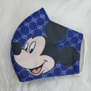 Dark blue Gucci inspired Mickey Mouse Face