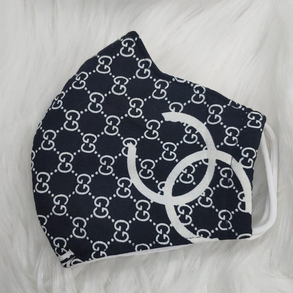 Black and white large Gucci logo Gucci inspired