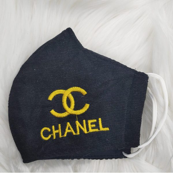 Black with yellow Gucci inspired logo
