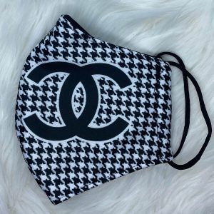 Black and white Houndstooth plaid Chanel