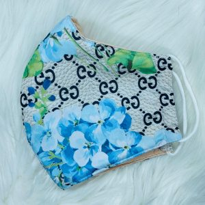 Silver Gucci with Blue Floral