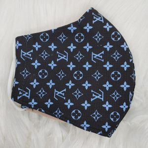 Black with baby blue LV